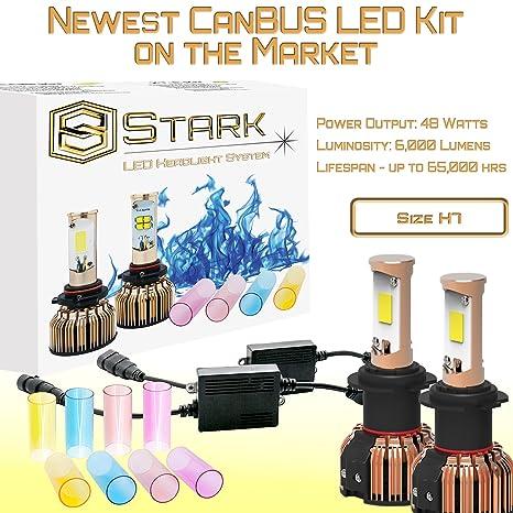 amazon com: 1997-2003 lexus es300 (low beam) - led head light conversion  kit 6,000 lm change 3k 6k 8k pink purple - h7: automotive