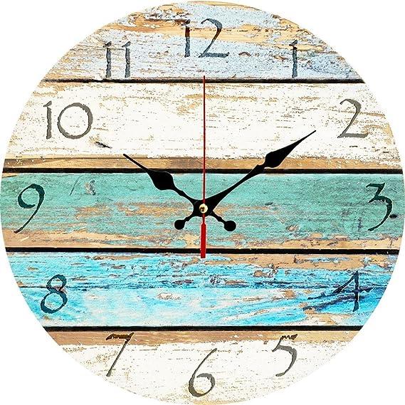 Amazon.com: Elikeable Reloj de pared decorativo, 12 pulgadas ...
