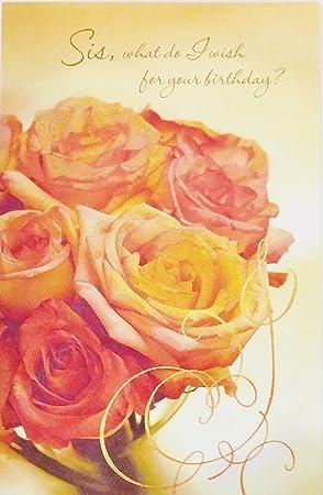 Feliz cumpleaños hermana Tarjeta de felicitación -
