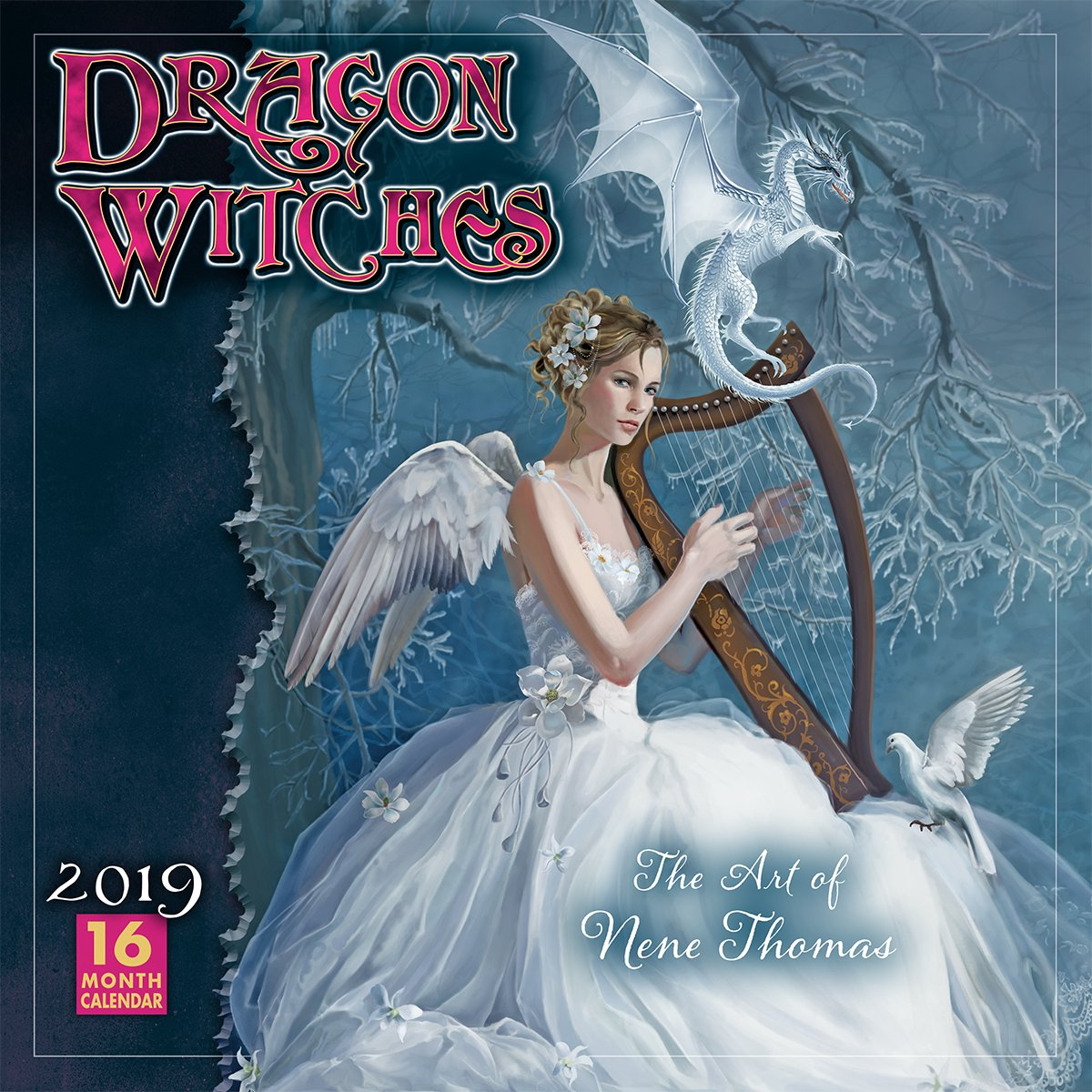 Dragon Witches The Art of Nene Thomas 2019 Wall Calendar, 12 x 12, (CA-0382)