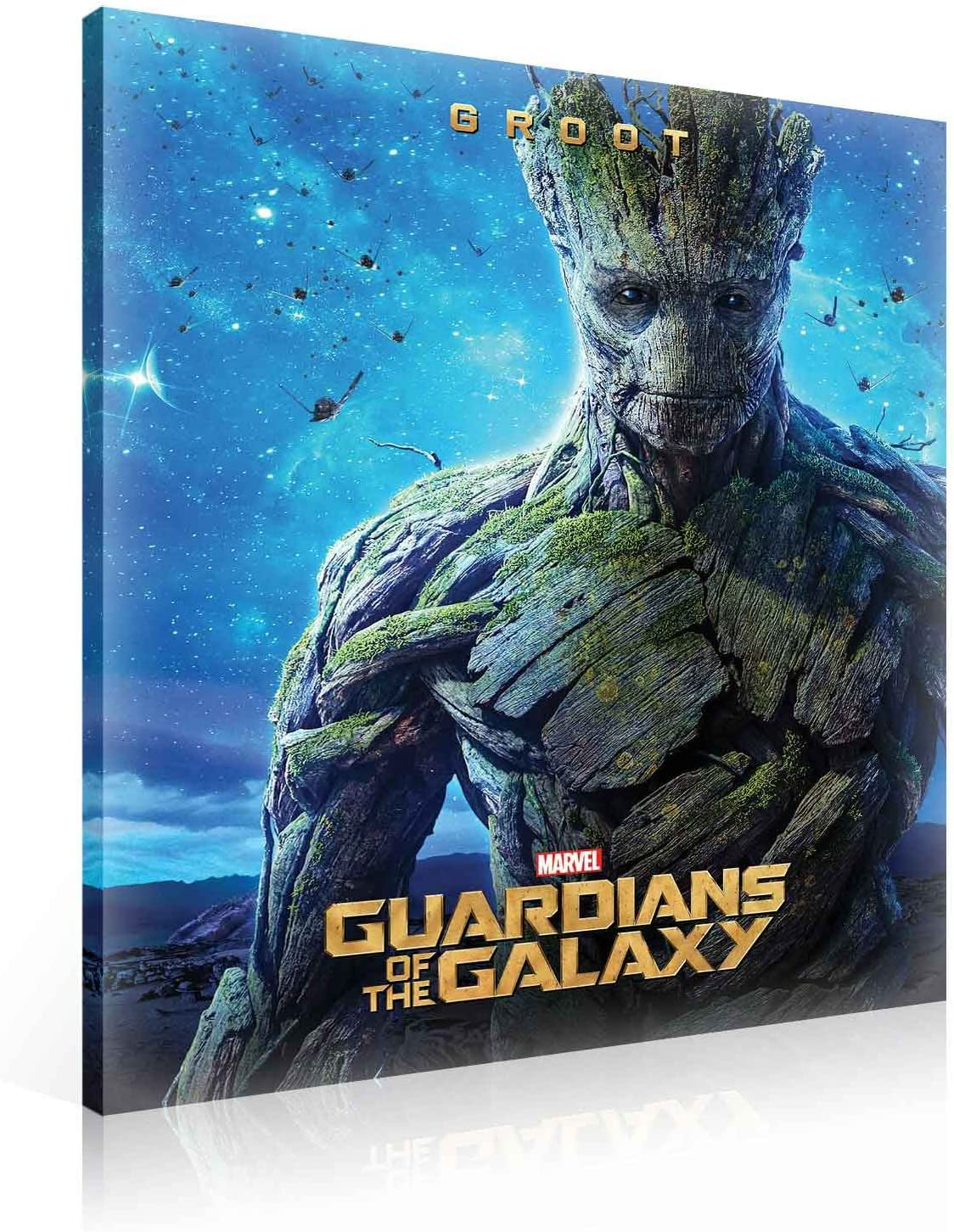 GUARDIANI GROOT E ROCKET MARVEL QUADRO 160x90 STAMPA SU TELA CANVAS NO TELAIO