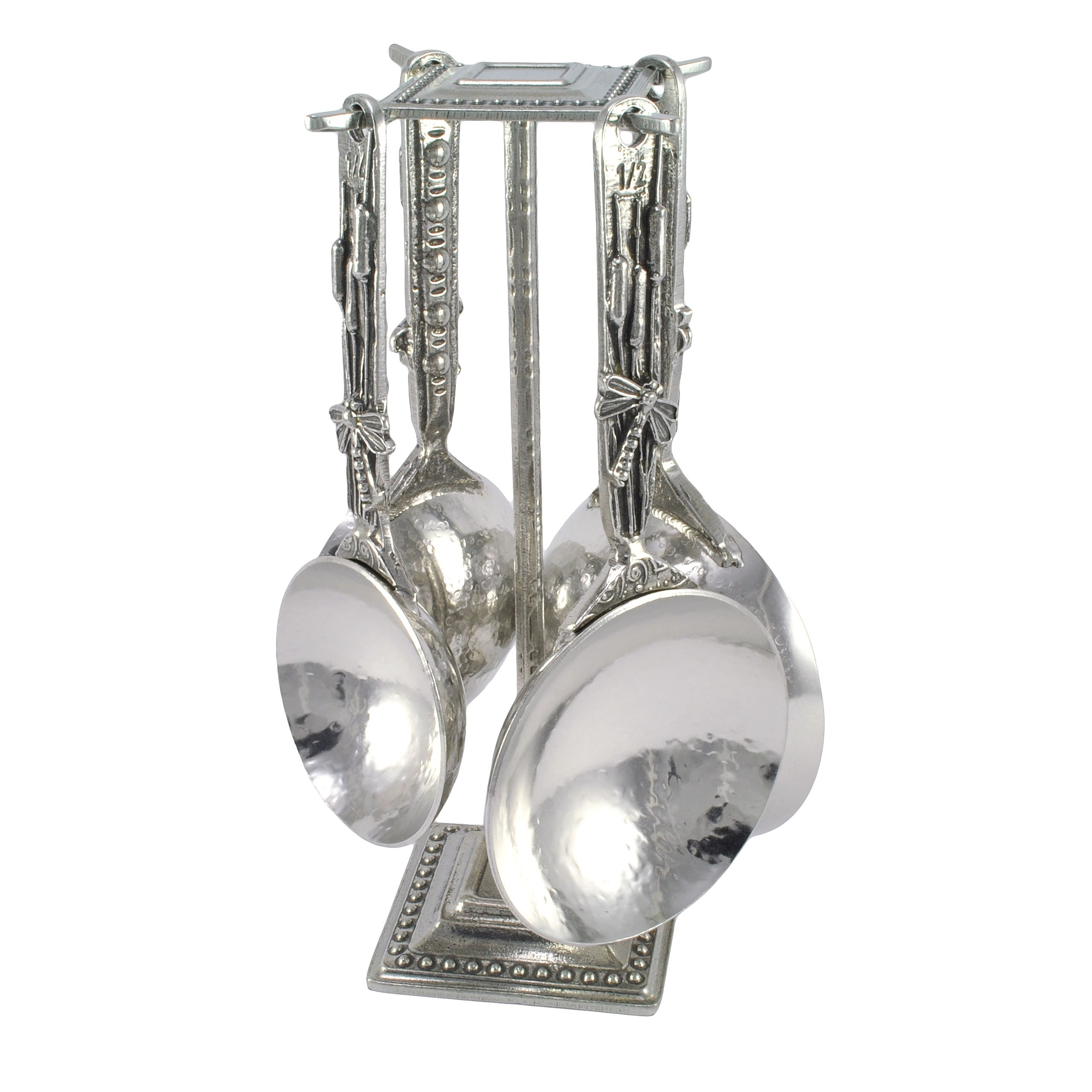 Crosby & Taylor Dragonfly Pewter Measuring Cups with Display Post