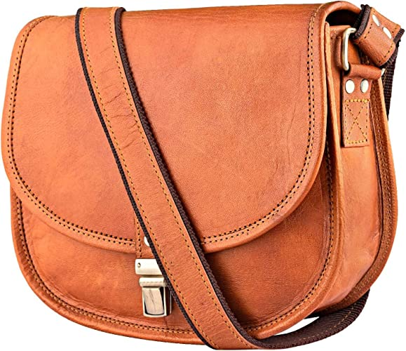JOSEKO Women Oil Leather Tote Handbags Casual Front Pockets Crossbody Bags Shoulder Bags
