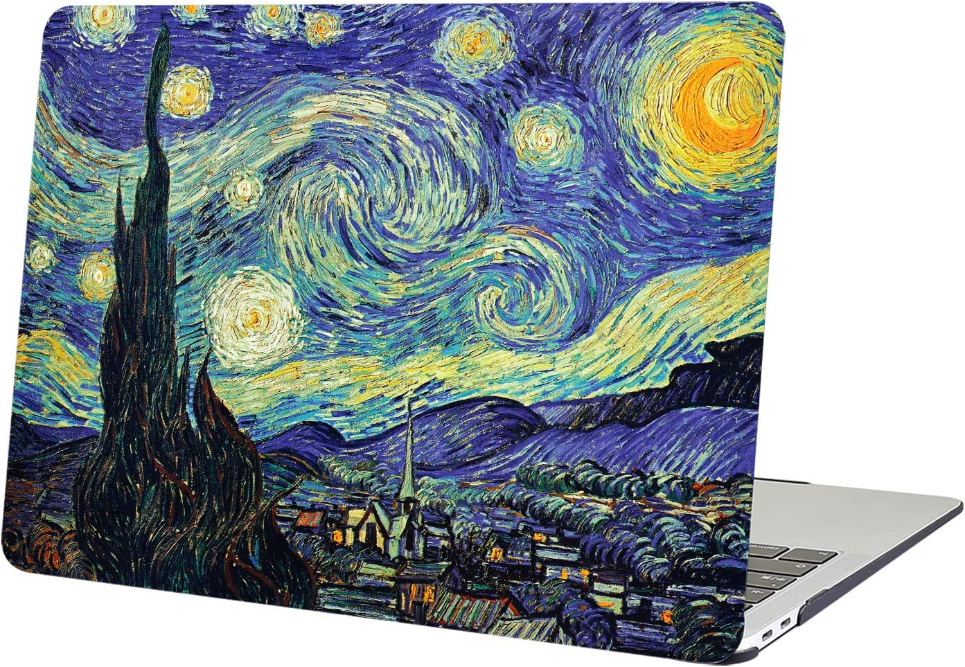 """YMIXPlastic Cover Snap on Hard Protective Case for MacBook Air 13""""(A1466 & A1369) , 01 Starry Night"""