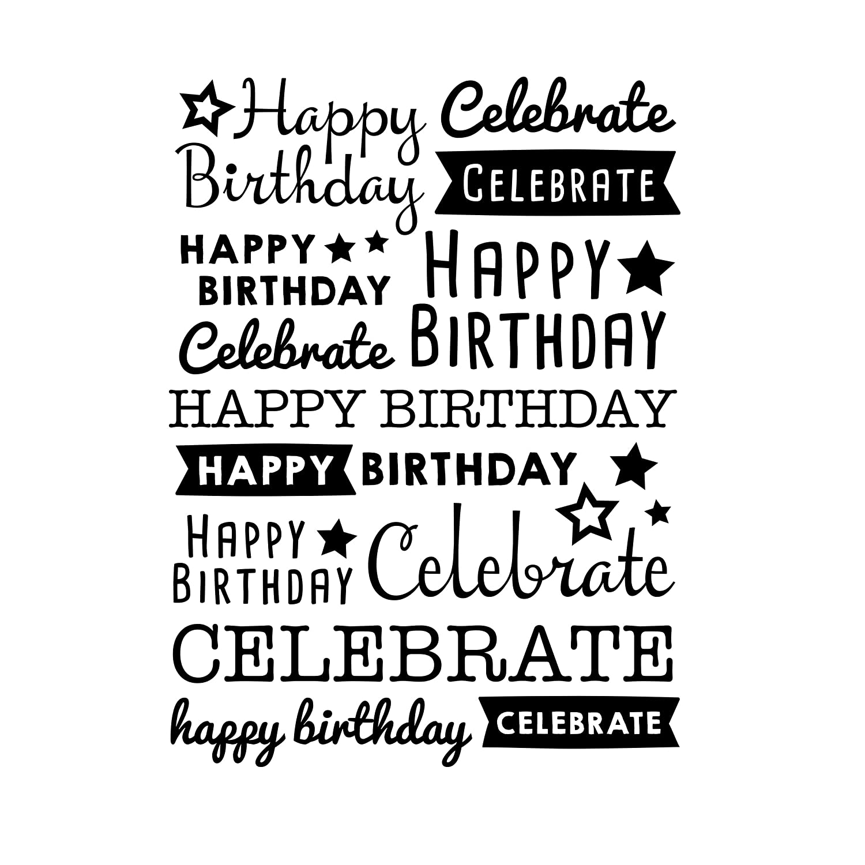 Darice 30041357 Embossing Folder Happy Birthday Celebrate 4.25 x 5.75 Inches