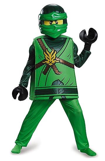 Amazon.com: Lloyd Deluxe Ninjago LEGO Costume, Medium/7-8: Toys ...