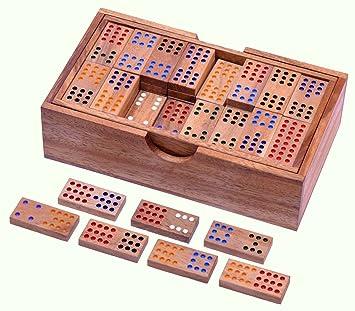 Steckspiele Domino aus Holz für die Kleinsten Motorikspielzeug