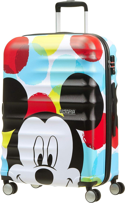 American Tourister Disney Wavebreaker - Maleta Infantil, Spinner M (67 cm - 64 L), Multicolor (Mickey Close-Up)