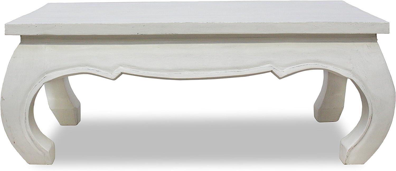 Mesa de café Color blanco 100 x 50 cm Opium mesa Salón maciza ...