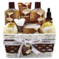 Bath and Body Gift Basket For Women and Men – 9 Piece Set of Vanilla Coconut Home...
