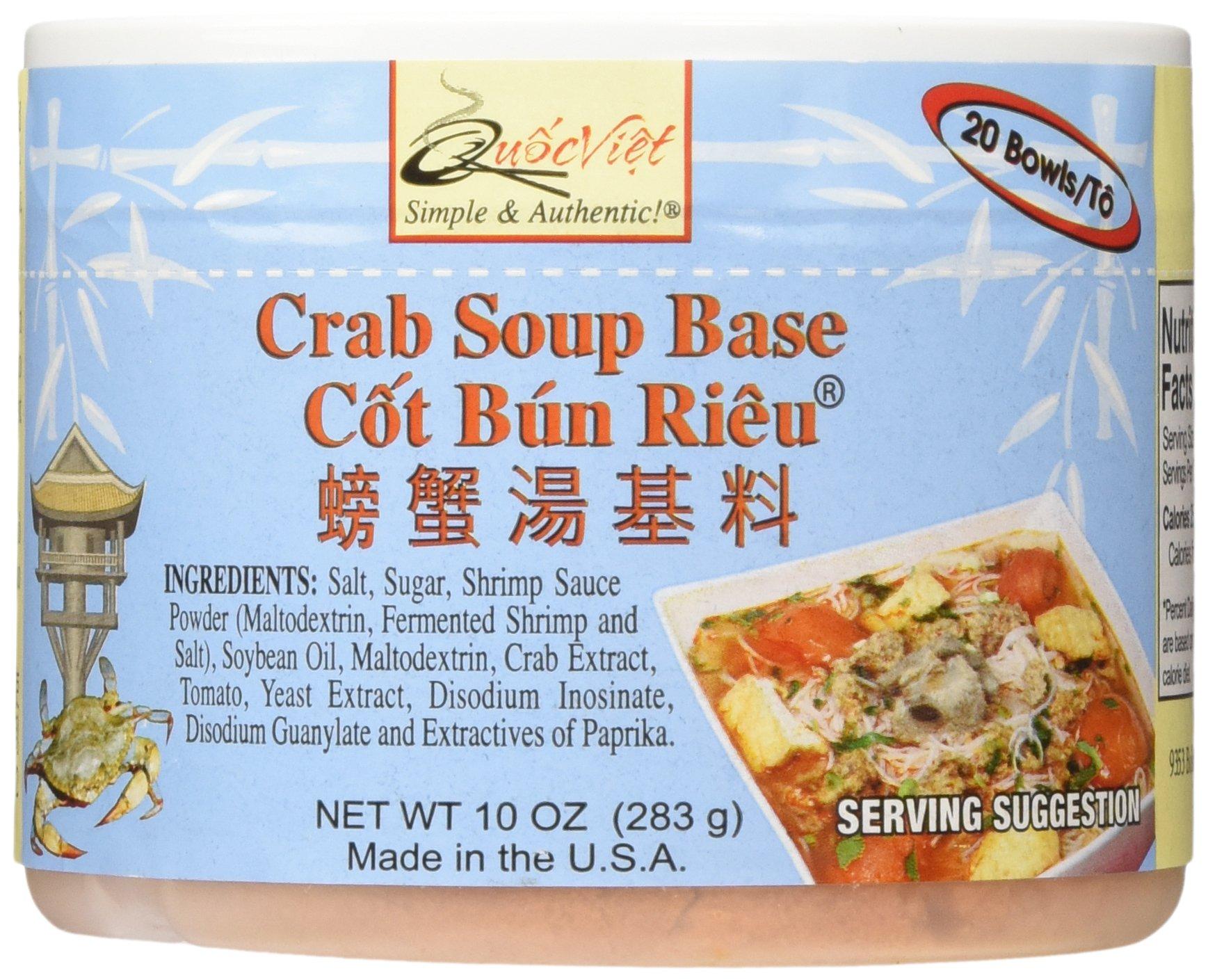 Quoc Viet Foods Crab Flavored Soup Base 10oz Cot Bun Rieu Brand