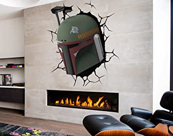 Amazon Com Boba Fett Full Color Decal Star Wars Full Color Sticker