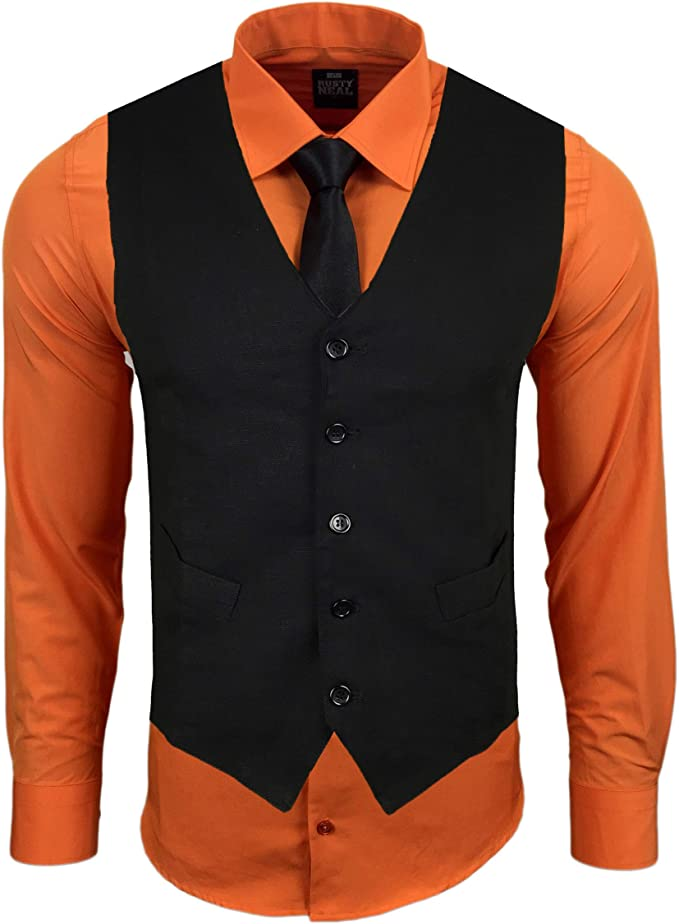 Subliminal Mode RN22 - Chaleco + Camisa + Corbata para Hombre ...