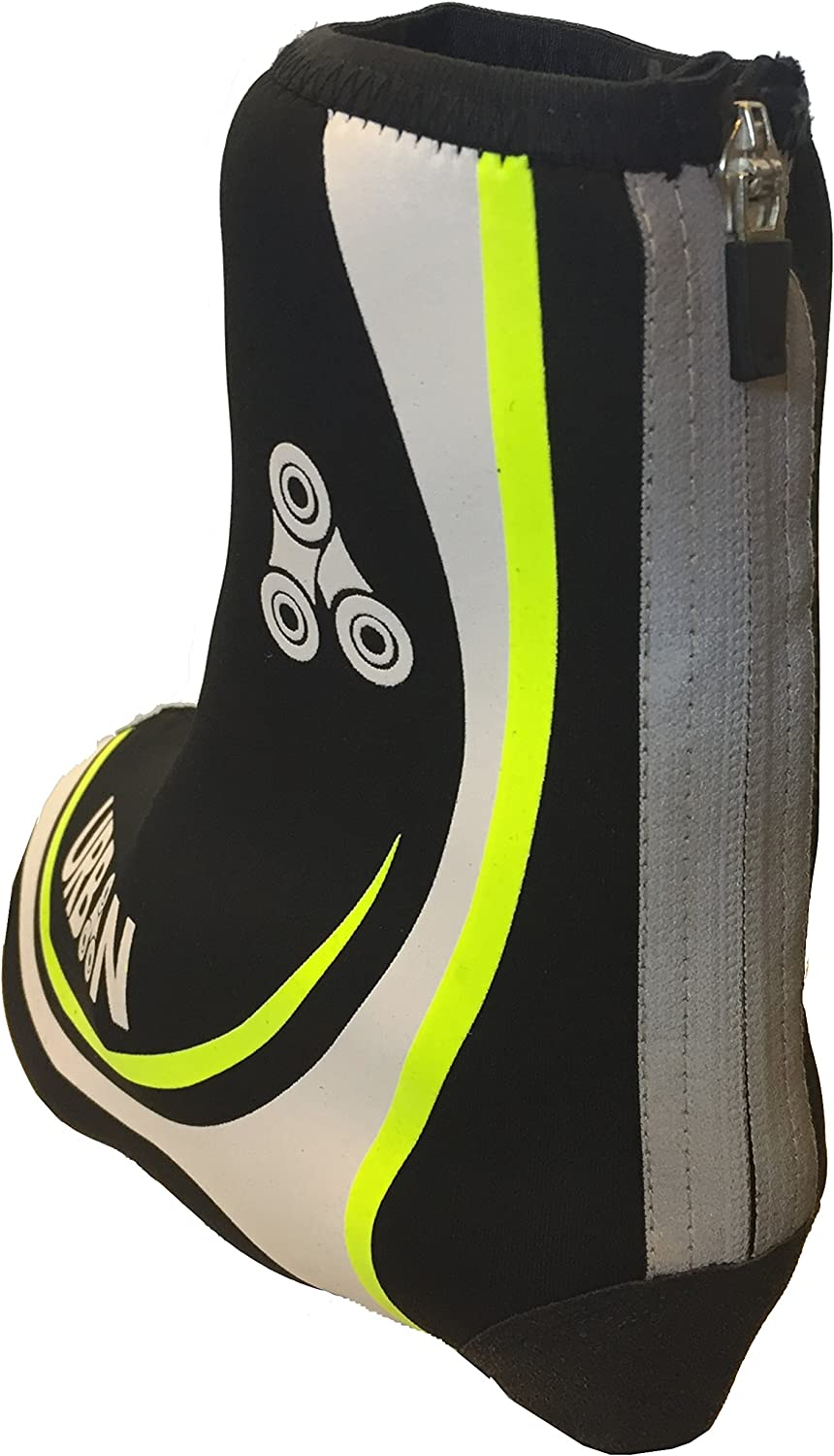 Waterproof Neoprene Overshoes for Road and MTB Windproof All Clip Shoe Types Urban Cycling Shoe Covers with Reflective Zipper