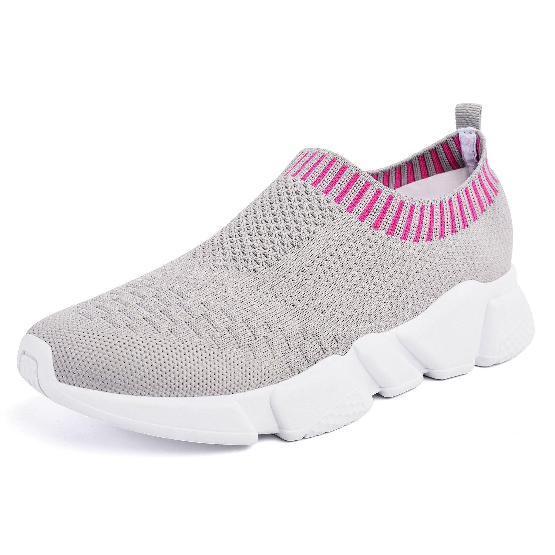 Mxson Women's Slip On Sneaker Mesh Loafer Casual Beach Street Sports Walking Shoes (New Size Version) B07CBT6YWQ 10.5 B(M) US|Grey