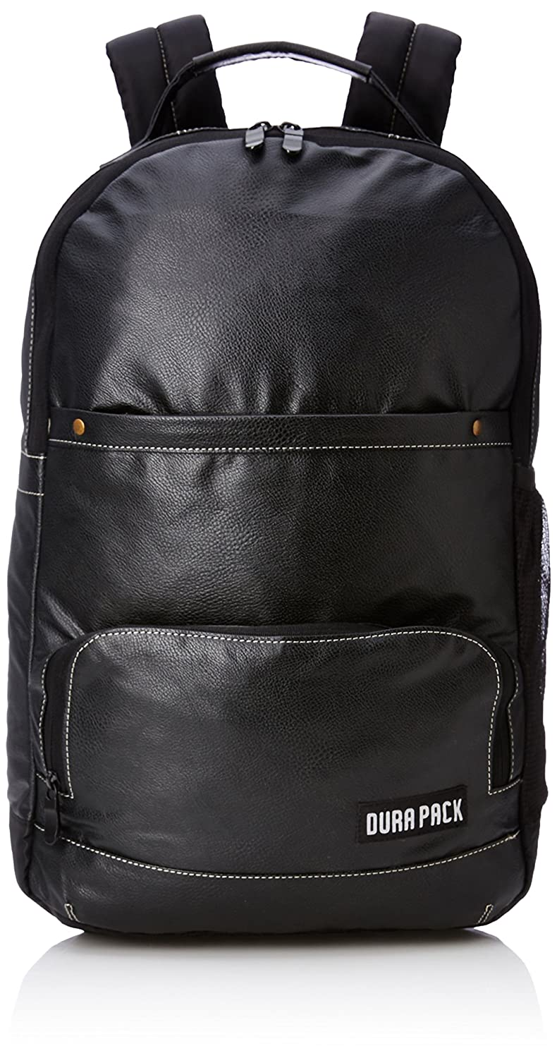 DURAPACK Omega 25 Ltrs Black Casual Backpack (PU2BLK)