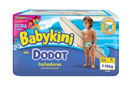Dodot - PBA#O1 - Pañales Bañador Dodot Babykini T3-T4 12 uds