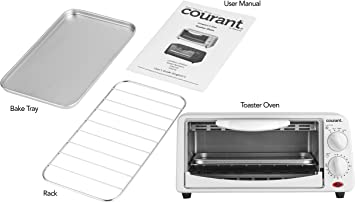 Amazon.com: Courant TO-942W - Tostadora de 4 rebanadas con ...