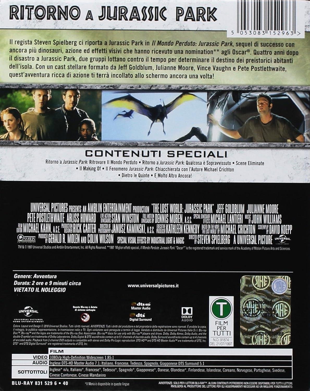 Il Mondo Perduto: Jurassic Park - Steelbook Blu-Ray Italia Blu-ray: Amazon.es: Richard Attenborough, Jeff Goldblum, Arliss Howard, Julianne Moore, ...