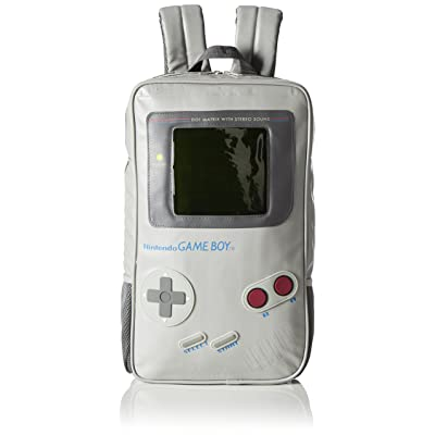 Nintendo Grey Game Boy Shaped Backpack (Default, Grey)   Kids' Backpacks
