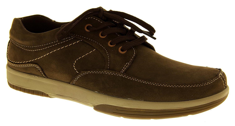 Footwear Studio Para hombre piel Yachtsman por marinero barco zapatos Casual para hombre zapatos de verano de la cubierta, color Marrón, talla 41 EU