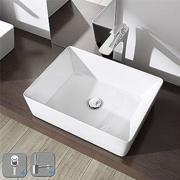 durovin Badezimmer Bruessel 105 A Keramik-Waschbecken weiß Cube ...
