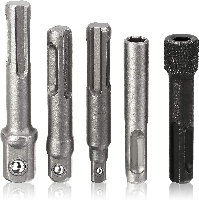 SXM-SXM Power Tool Accessories 1//4 Inch Hex Screwdriver Bit Holder 105 Degree Angle Extension Socket Holder Adaptor Drill Chuck Drill Chuck