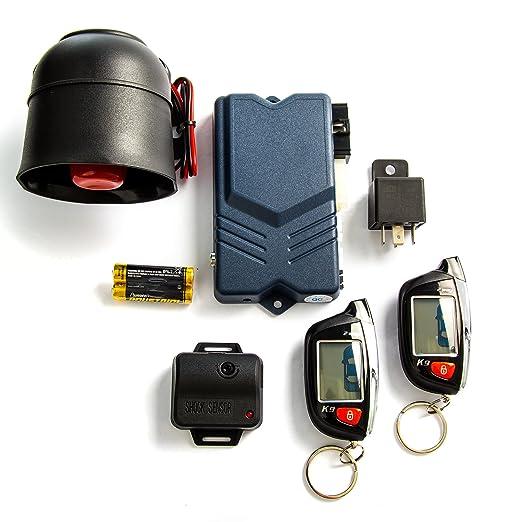 Alarma de seguridad para coche de 2 vías con pantalla LCD de ...