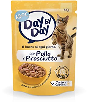 ADOC Day by Day Pollo y Jamón para Gatos Adultos, Pack DE 24 Unidades: Amazon.es: Productos para mascotas
