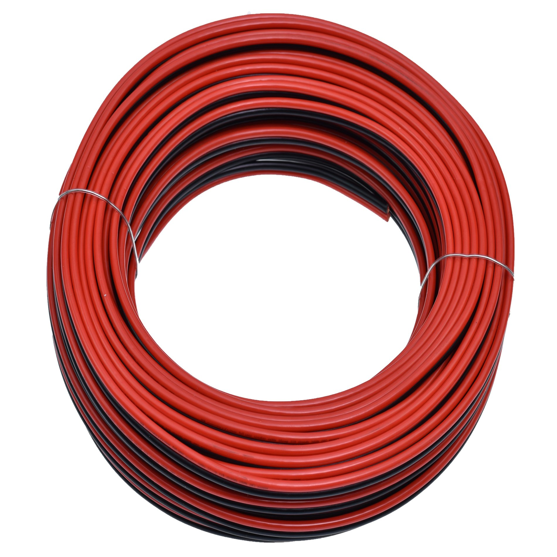 Conext Link PSC-RB Series Parallel Red Black Speaker Cables Full Gauge Oxygen Free Copper Zip Primary Wire (100 feet, 16 Gauge)