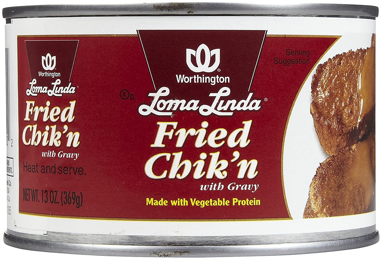 Loma Linda Fried Chicken with Gravey - 13 oz - 12 Pack: Amazon.com ...
