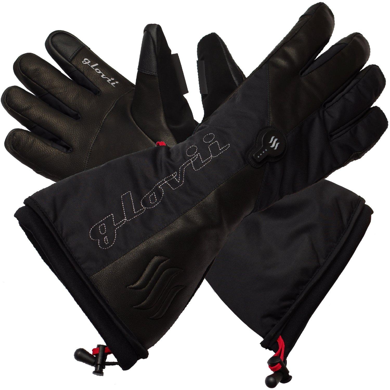 Glovii Akku Beheizte Thermoaktive Ski-Handschuhe, Schwarz, Größen: S-XL (M)