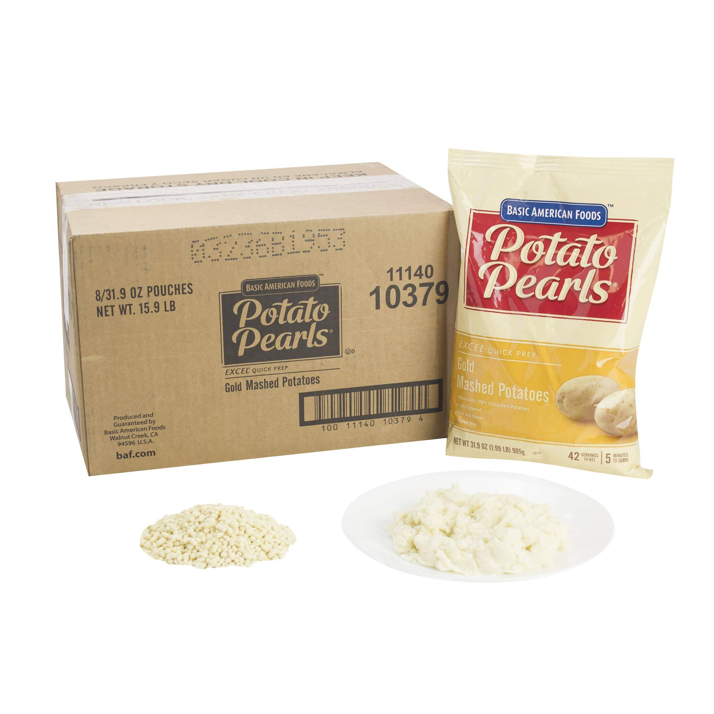 Potato Pearls Excel Gold Mashed Potato, 31.9 Ounce -- 8 per case.
