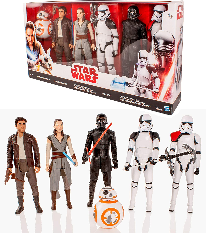"""STAR Wars L/'ultimo dei Jedi 12/"""" Deluxe 6 Figure Set Inc BB8-Regno Unito-GRATIS P/&P"""
