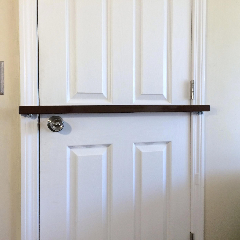 Door Bar Pro AIO''Brown'' Steel Door Security Bar for Inswinging Doors That are 24'' to 48'' Wide