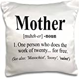 3dRose Mother definition. - Pillow Case, 16 by 16-inch (pc_193598_1)