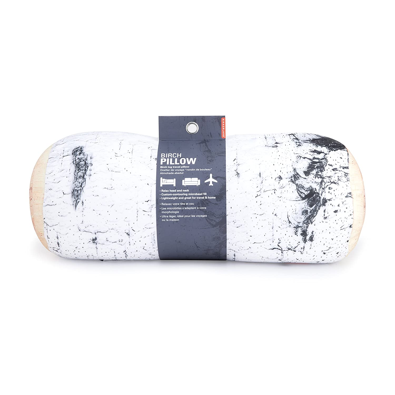 Kikkerland Birch Log Micro Bead Head Cushion TT22