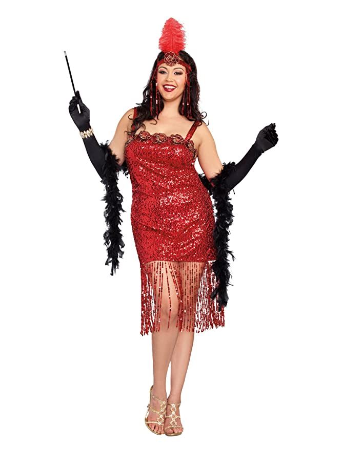 1920s Costumes: Flapper, Great Gatsby, Gangster Girl Dreamgirl Womens Plus-Size Aint She Sweet Costume $68.84 AT vintagedancer.com
