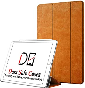 DuraSafe Cases for iPad PRO 12.9-3 Gen (Will Not Fit on PRO 12.9 2020) Ultra Slim Clear PC Back Shell Cover Supports Pencil Pair & Charging - Brown Texture