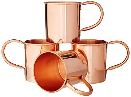 Moscow Mule Copper Mugs Set of 4 by Coppertisan - Handmade of 100% Pure  Copper