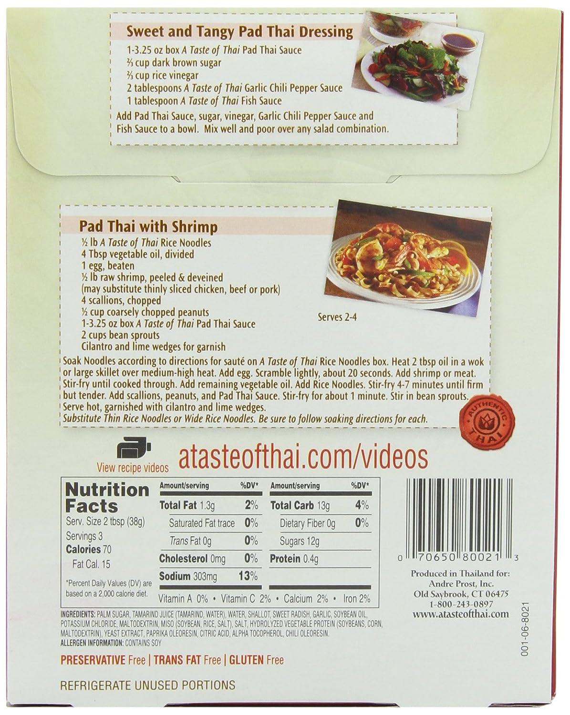 Amazon.com : A Taste of Thai Pad Thai Sauce, 3.25-Ounce Packets ...