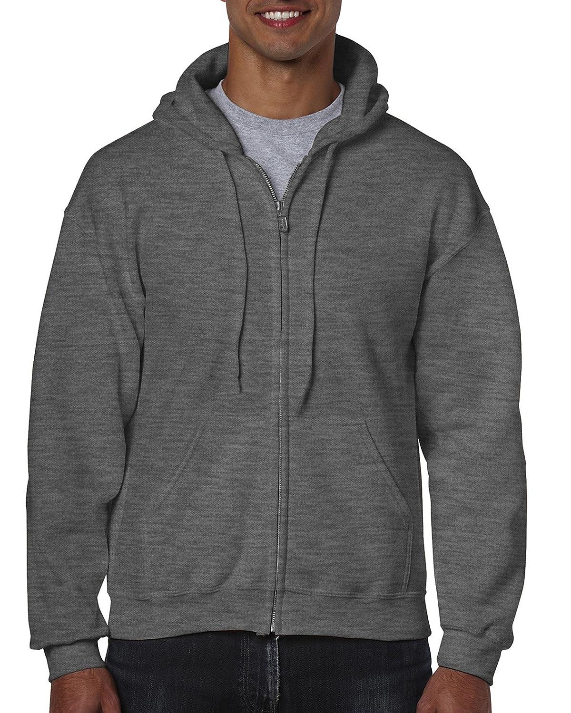 Gildan Heavy Blend Unisex Adult Full Zip Hooded Sweatshirt Top