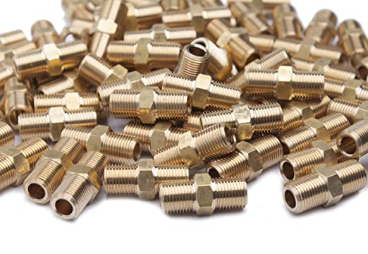 """5 x New Brass Pipe Hex Nipple Fitting 1//8/"""" Male NPT Air Fuel Water"""