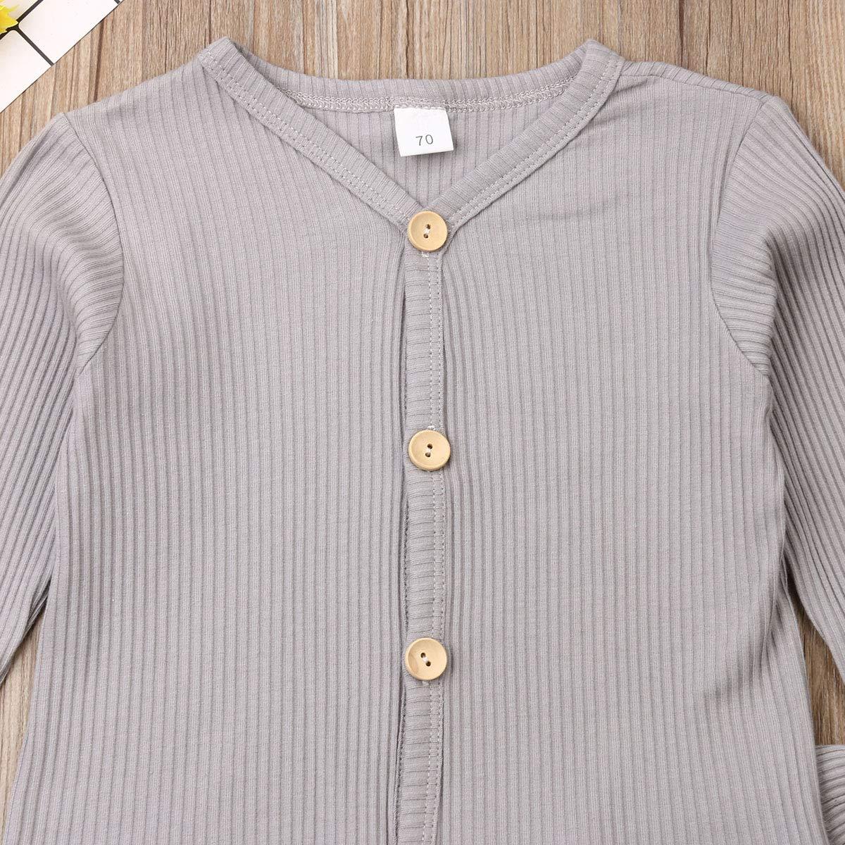 Dourbesty Toddler Boys Girls Gingham Pajama Set Striped Shirts Pants Suits
