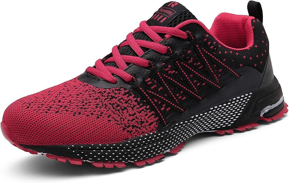 Sollomensi Sneakers Herren Damen Unisex Rot/Schwarz