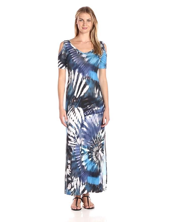 1bd16f42f91 Karen Kane Women s Tie-dye Cold Shoulder Maxi Dress at Amazon Women s  Clothing store