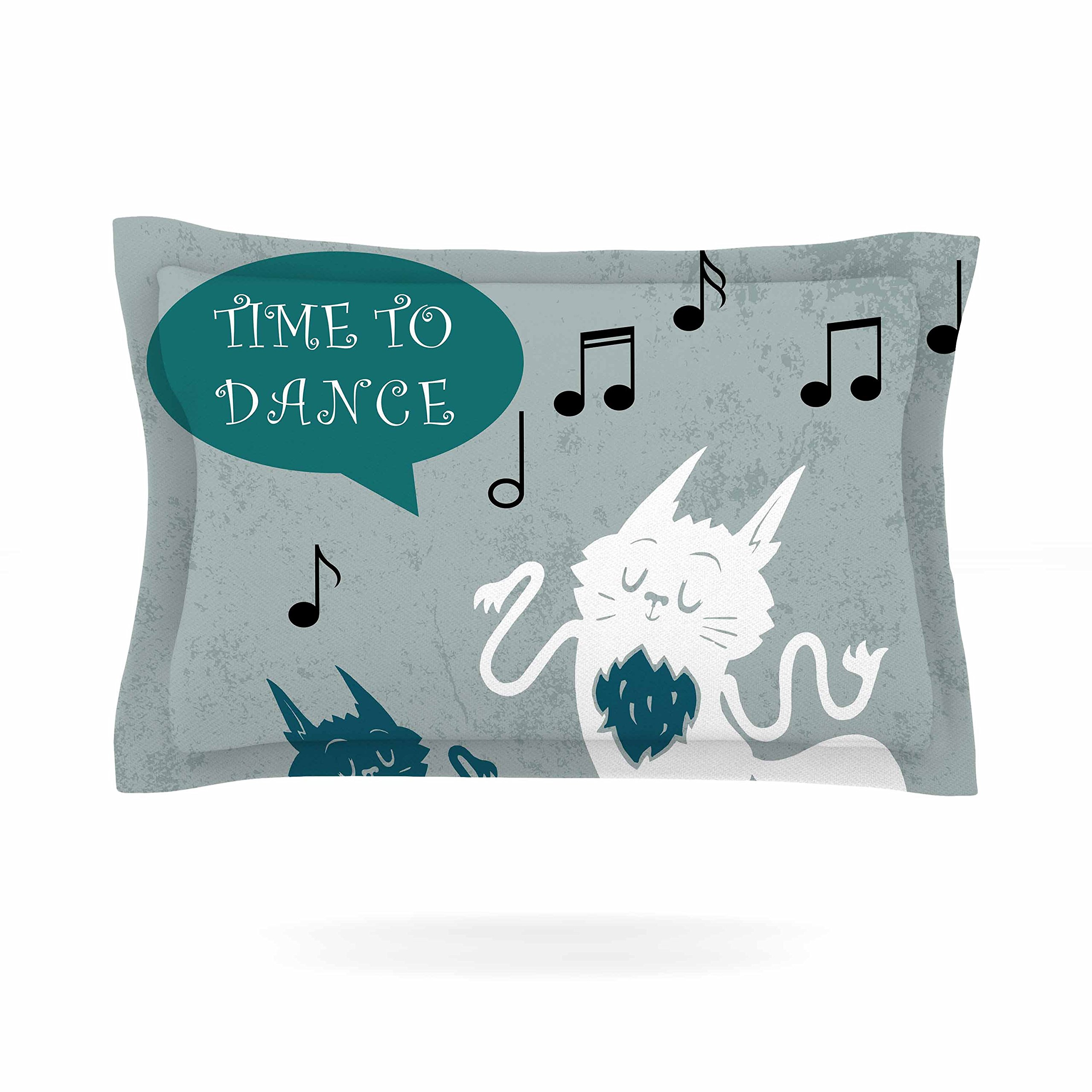 KESS InHouse Anya Volk ''Time To Dance'' Green White Pillow Sham, 40'' x 20''