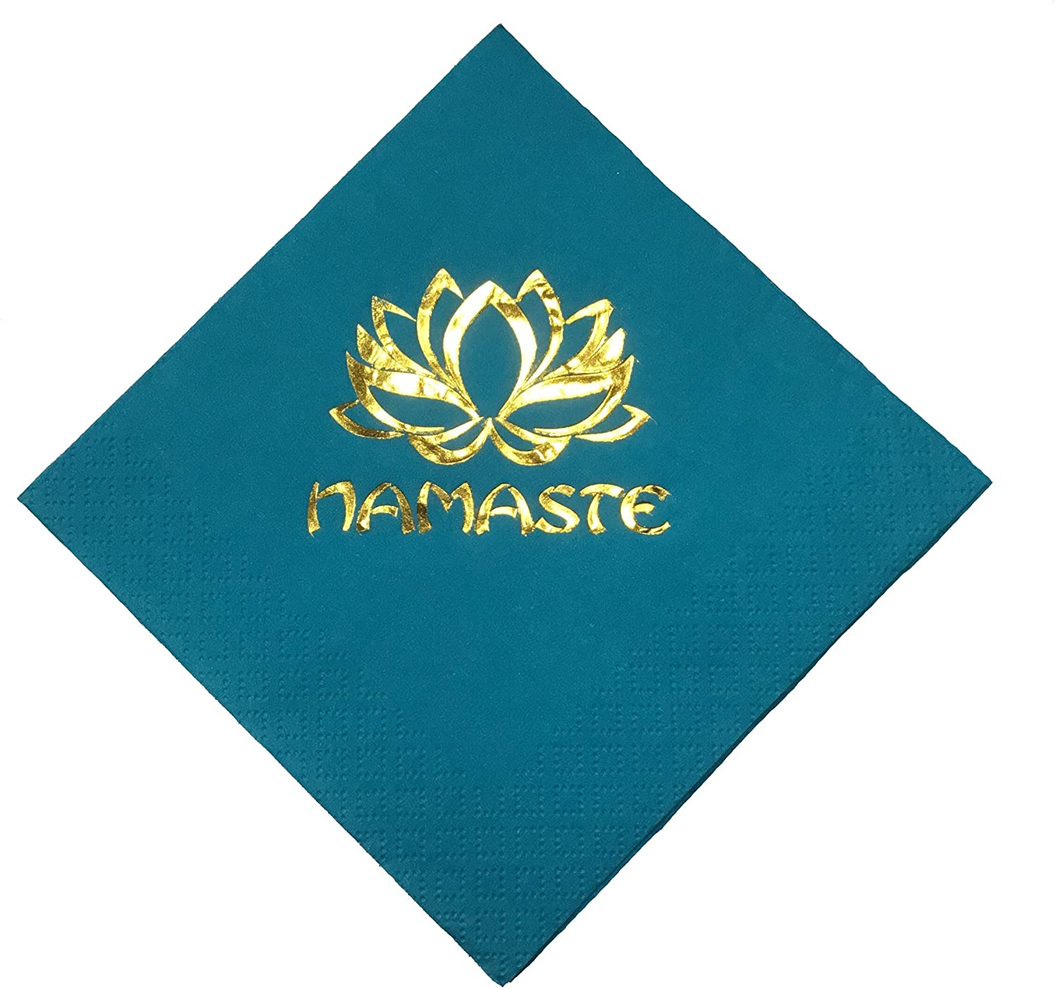 Yoga Napkins Namaste Party Beverage Cocktail Size 20 Count Paper Gift Ready