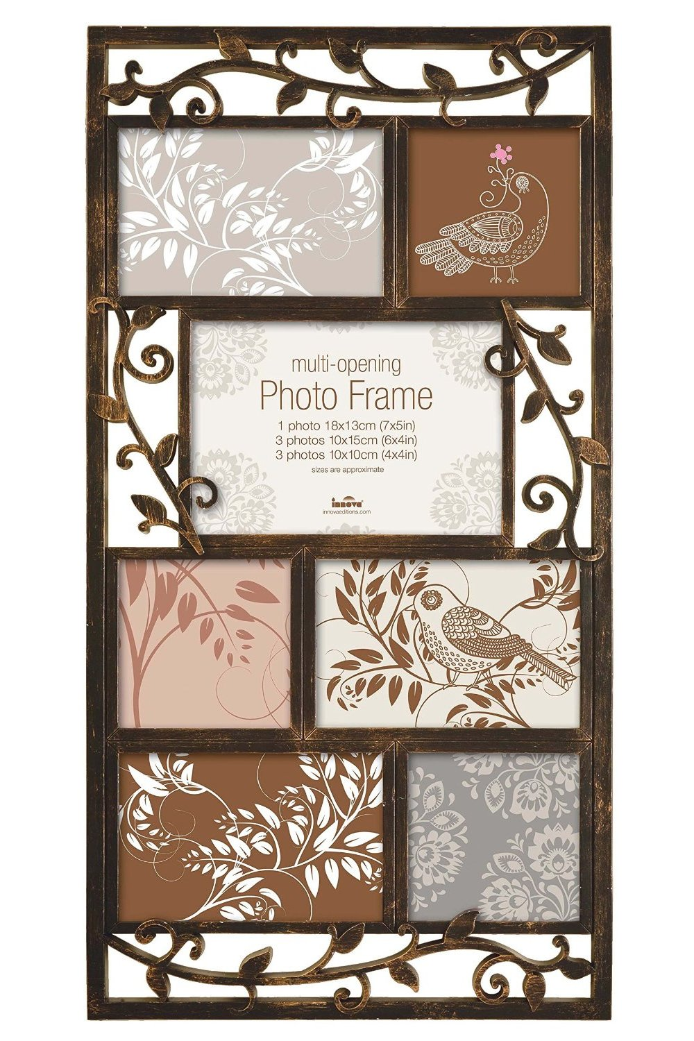 Innova Editions Multi-Aperture Picture/Photo frame, Holds 7 Photos ...