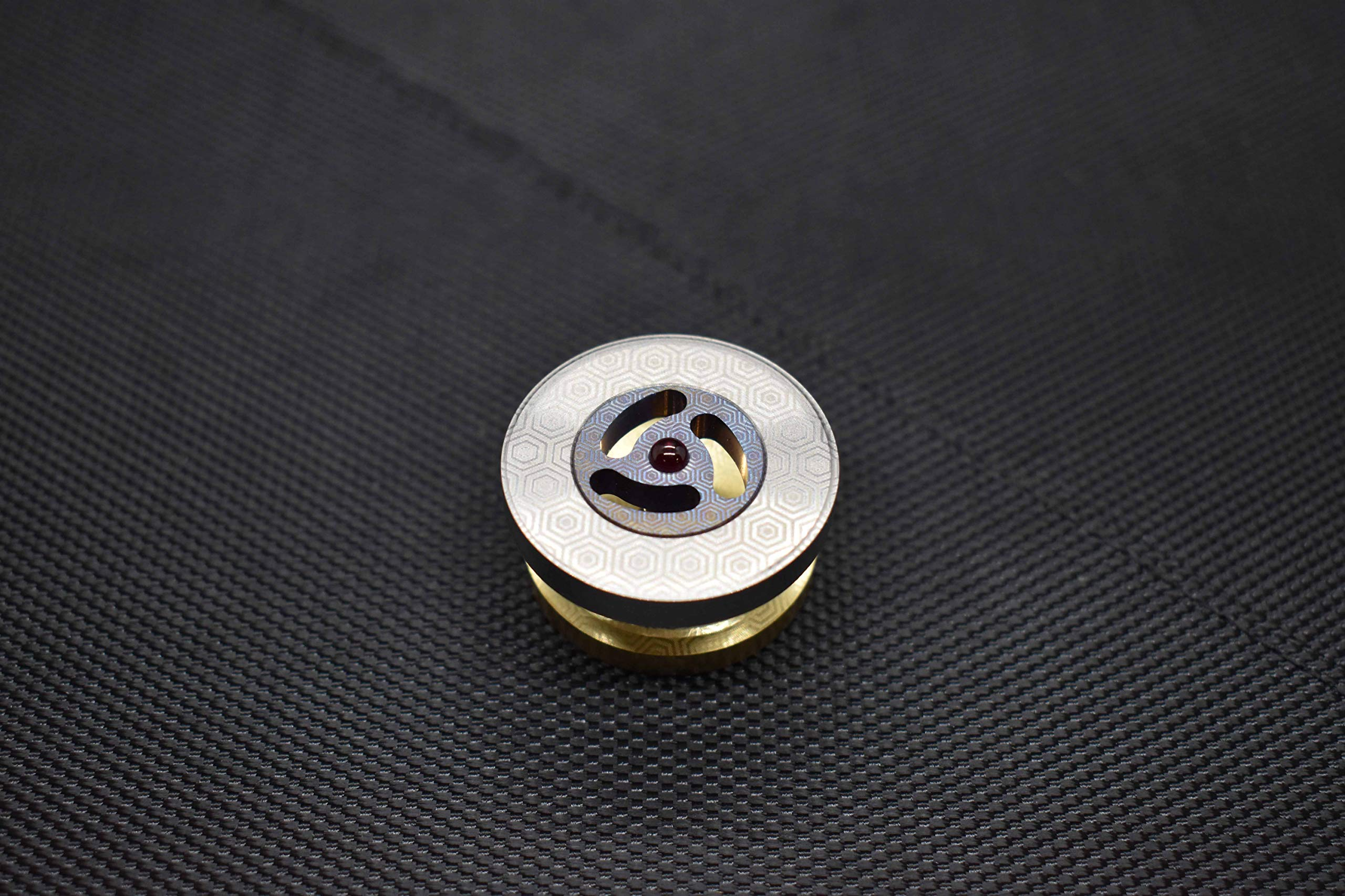 MetonBoss Spinning Tops - Tungsten Rotor / Precision Milled Titanium Core with Ruby Bearing | Everyday Carry Birthday Gift Ideas | Collectable Fidget (Performer MEGA) by MetonBoss (Image #2)